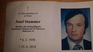 Partezettel Josef Stummer
